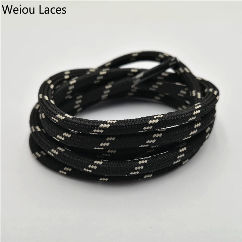 Zapatos de senderismo Weiou de cuerda redonda para exteriores, cordones resistentes al desgaste, zapatillas deportivas, cordones de bota con cordones para hombres y mujeres, cordones deportivos