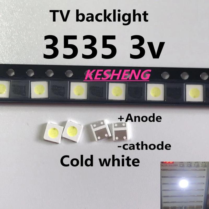 100PCS/UNI 3537 3535 1 W LED Chip-2 90LM 3 v Cool White Backlit LCD High Power LED for TV Applications