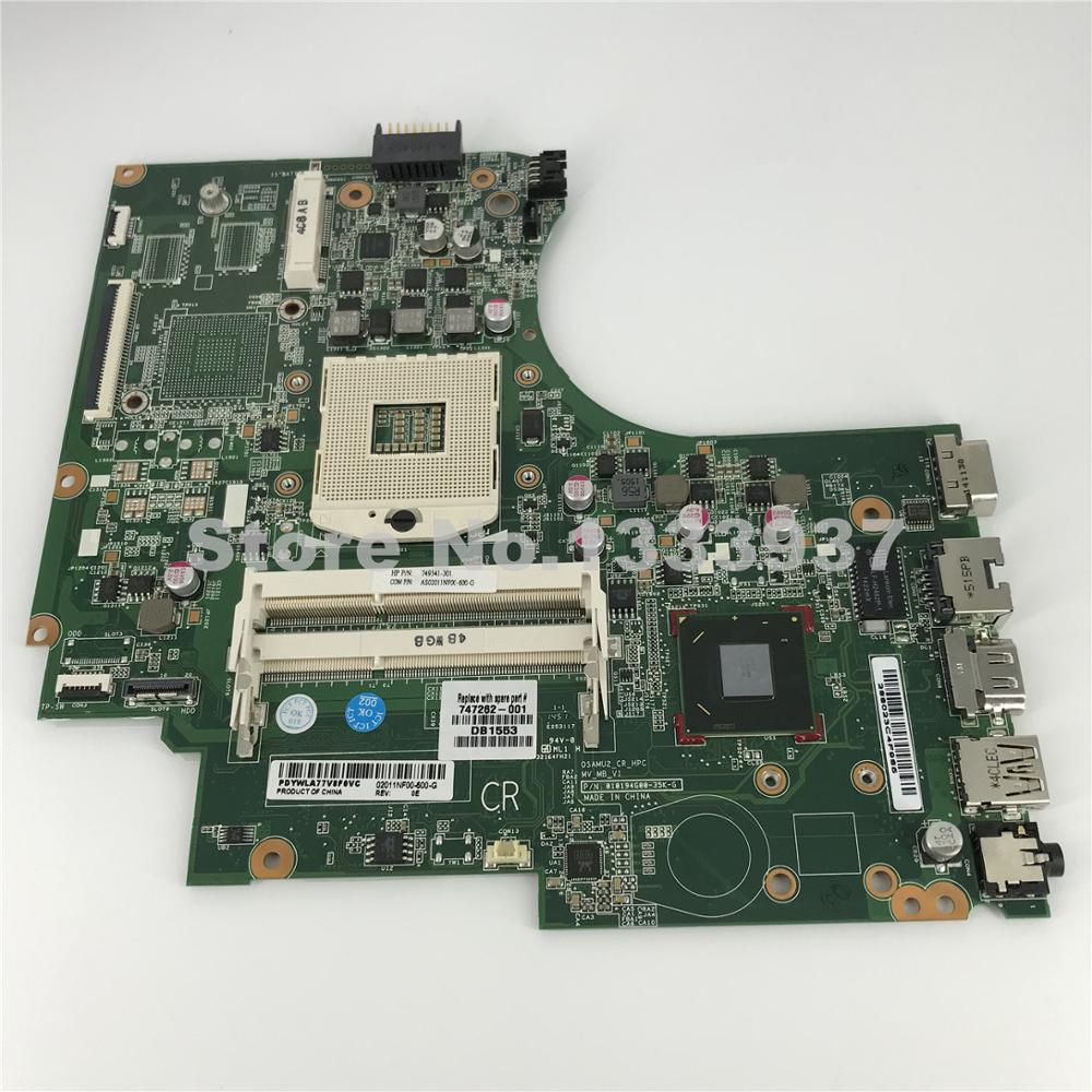 Mainboard 747262-501 749341-501 Para HP Pavilion 14-D 240 246 G2 Laptop Motherboard SLJ8E HM76