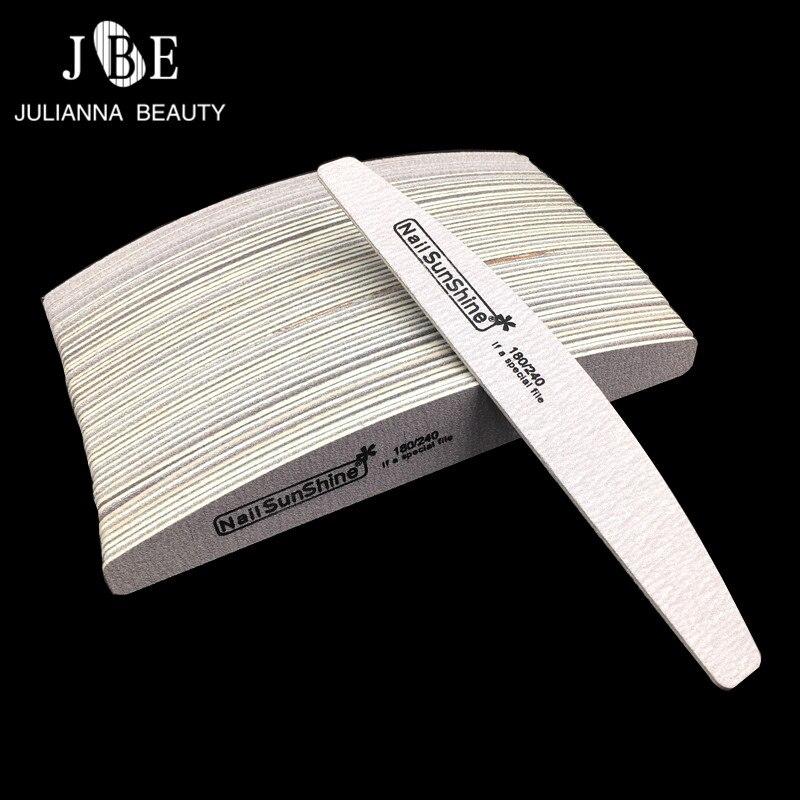 Деревянная пилка для ногтей, 50 шт./компл., пилка для ногтей, 180/240 деревянная пилочка для ногтей, инструмент для педикюра, Lime A Ongle