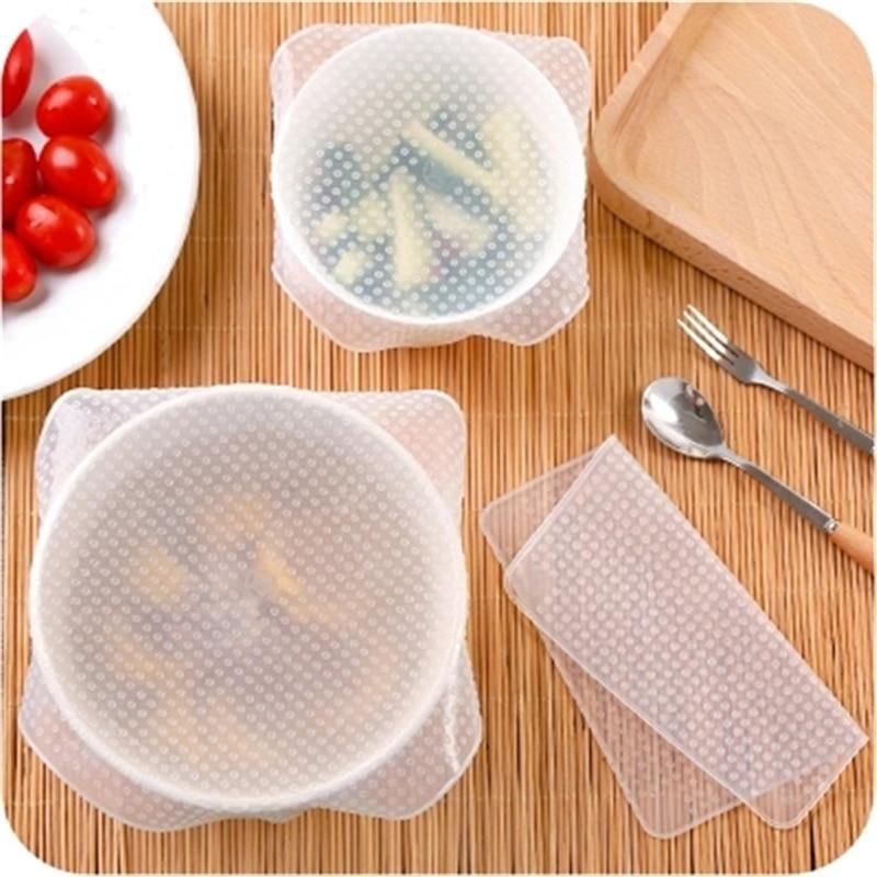 JU 1 unidad, envoltorio de silicona de alto estiramiento reutilizable para mantener los alimentos frescos, envolturas de silicona para alimentos, tapa de Bol de vacío, estirable 25