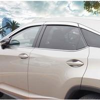 Brand New 1 Set Chrome Side Rain Guard Deflectors Vent Sun Shade Window Visors For Lexus RX 200t/300/450h 2016-2018