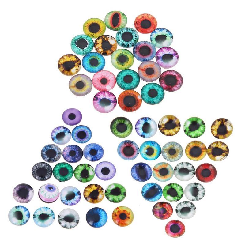 20 unids/set 10mm/16mm/20mm cristal muñeco ojo manualidades DIY para juguete dinosaurio Ojo de animal tiempo accesorios de Gema para muñecas