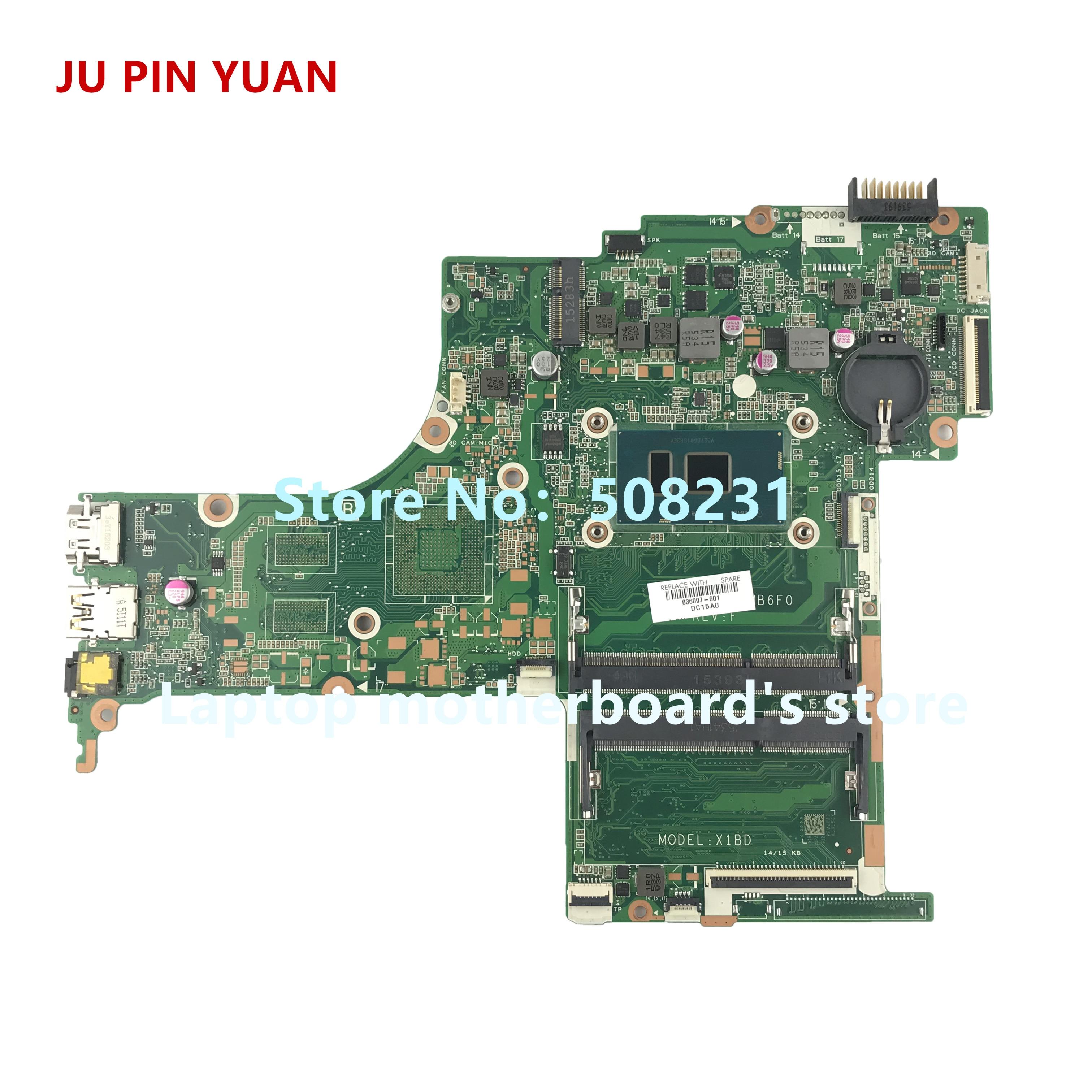 Ju pin Yuan 836097-601 836097-001 X1BD DAX1BDMB6F0 para HP Pavilion Notebook 15-AB 15T-AB 15-una placa base para ordenador portátil i5-6200U