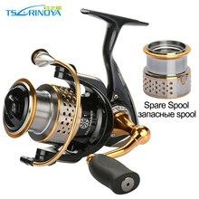 Tsurinoya 2000 série bobine de filage + une bobine de rechange en métal pêche en mer bobine 9BB glisser puissance 6KG carpe pêche bobine de roue sattaque