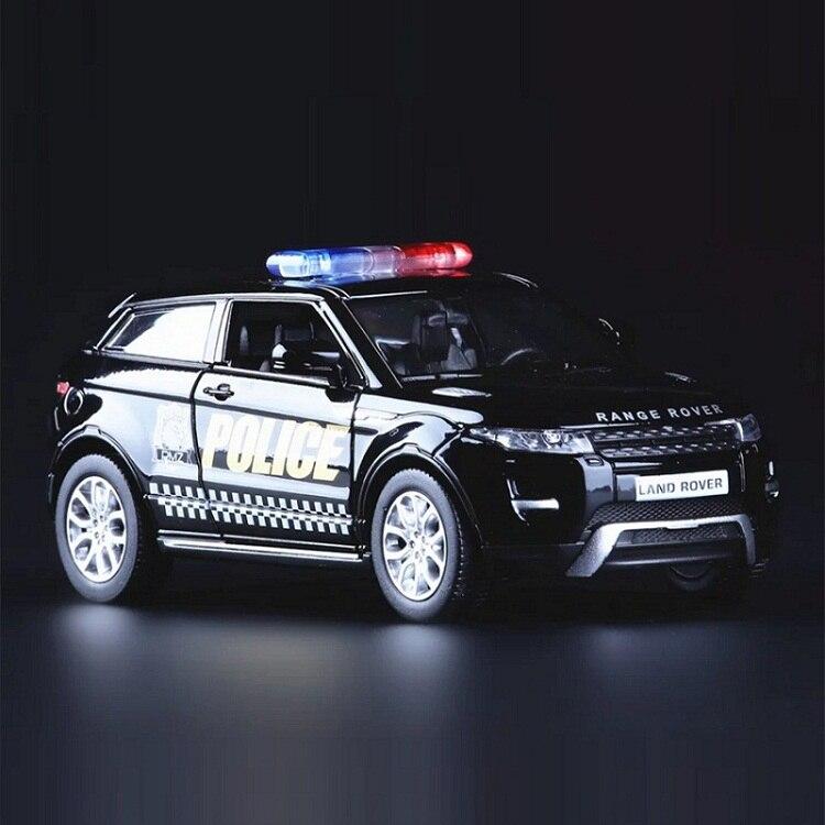Alta simulación exquisita fundición a presión y vehículos de juguete: coche urbano RMZ estilo Evoque SUV de policía CCar modelo de aleación de 1:36 coche Pull Back