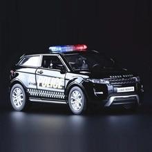 Haute Simulation exquis moulages sous pression et jouets véhicules: RMZ ville voiture style Evoque SUV Police CCar 1:36 alliage voiture modèle retirer voiture