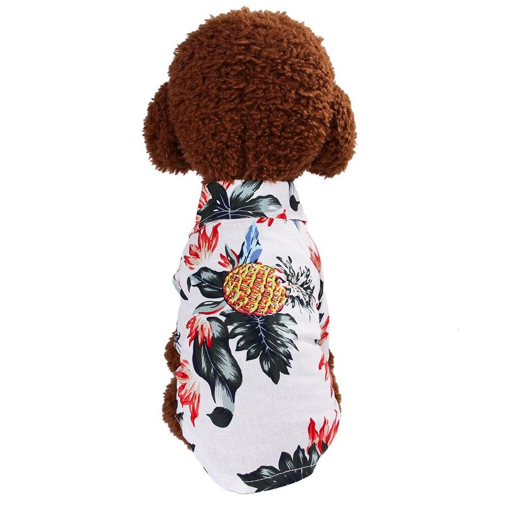 Dog Clothes Cat Tshirt Soft Cool Hawaii Shirt Summer Beach Leisure Floral Tropical Seaside Tshirts Casual For Puppy Teddy Kitten