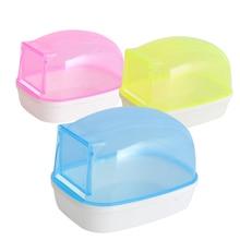 Hurón de plástico piscina para mascotas polvo arena baño ducha hámster inodoro Chinchilla bañera caja de baño