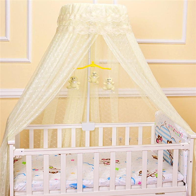Baby Round Mosquito Net Hung Netting Bed Canopy For Kids Bedroom Mosquito Net Stand Holder Adjustable Clip-on Crib Canopy Holder