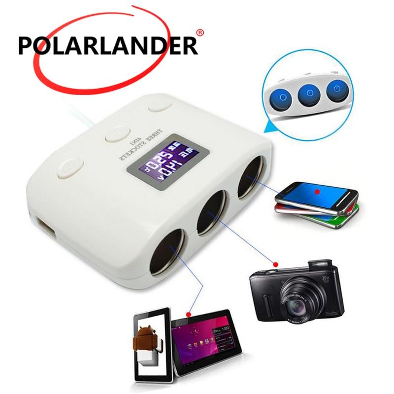 12V ABS 1.0A 2.1A dual cantidad de puertos USB adaptador Universal cuadrado coche cargador rápido Char para teléfonos móviles y digital