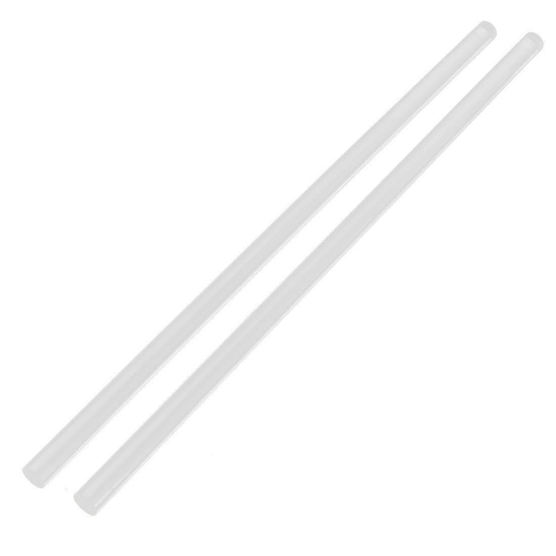 Gran oferta barra acrílica sólida de 3Mm x 250Mm de forma redonda Pmma barra extruida transparente 2 uds