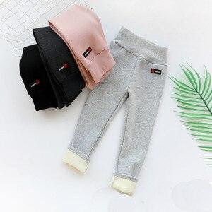 Girls Leggings Pants 2020 Winter Thickening Cotton Fleece Children's Warm Long Trousers Kids Casual Clothing Winter Legging Girl