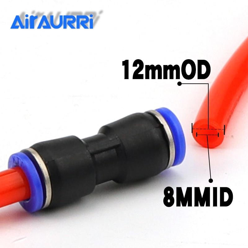 AIRAURRI לשעבר במפעל מחיר PU12 באיכות גבוהה 1Pcs אוויר פנאומטי 12mm כדי 12mm ישר לדחוף ב מחברים אבזרים מהירים