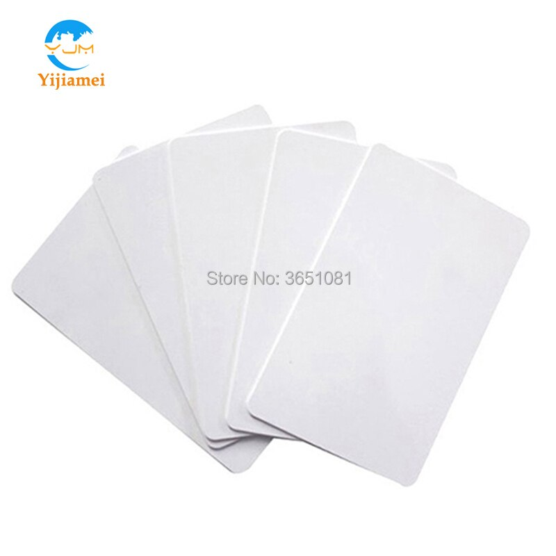 13,56 KHz Compatible 1K S50 tarjetas RFID FM11RF08 chip en blanco tarjetas inteligentes de proximidad RFID YJ01-F08 100 unids/lote