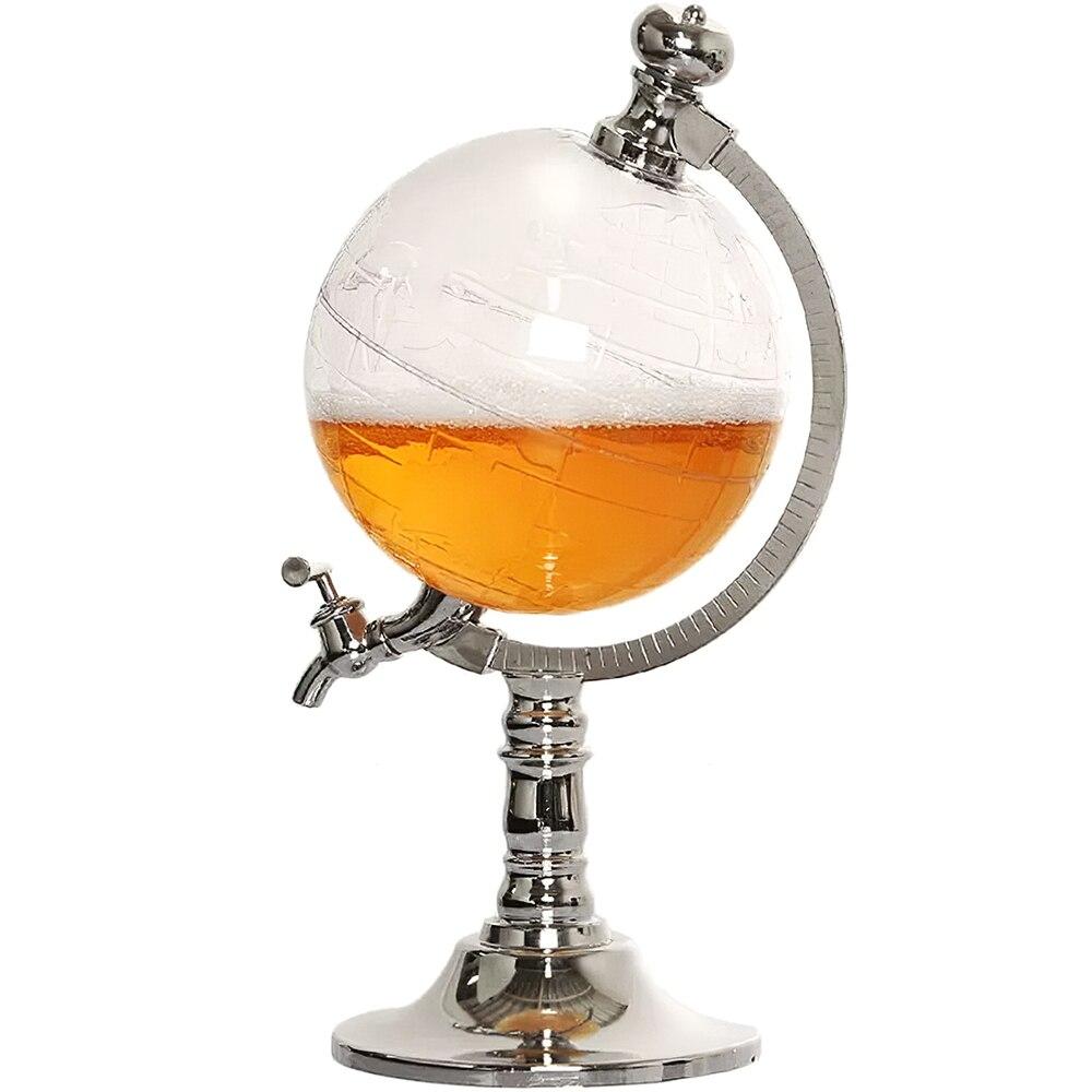 Мини диспенсер для пива питьевой воды в форме шара с прозрачным слоем кухонный и