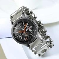 metal tool straps for samsung galaxy watch 46mm gear s3 watch strap bracelet garmin fenix 6pro hr 5x watch band with screwdriver