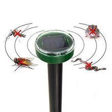 Outdoor Garden Yard Sonic Solar Ultrasonic Mole Snake Mouse Mice Bird Mosquito Rodent Pest Repeller Control