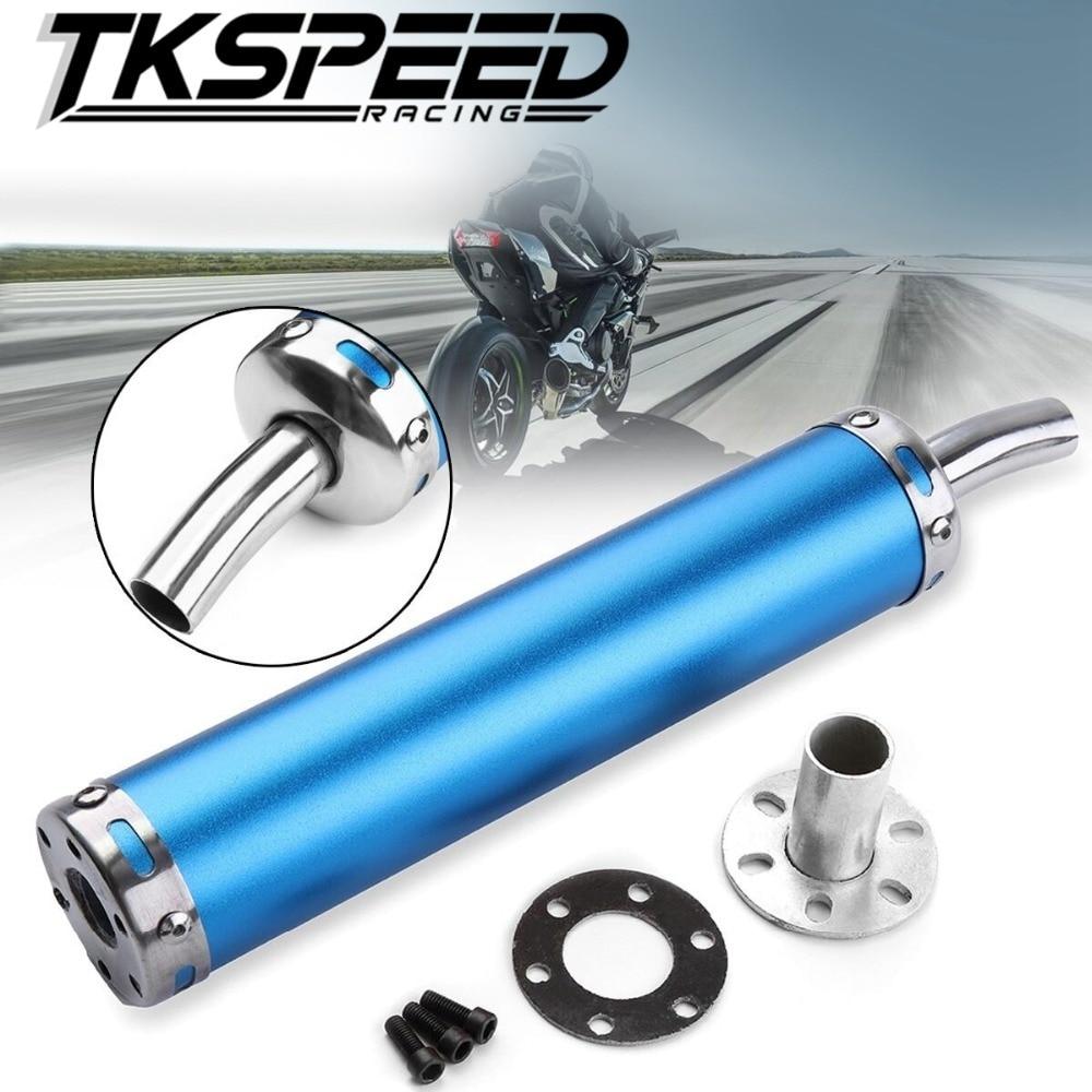 20MM Universal metal  Motorcycle Racing Exhaust Muffler Silence Silencer 2 Stroke Motorcycle Exhaust Pipe Muffler