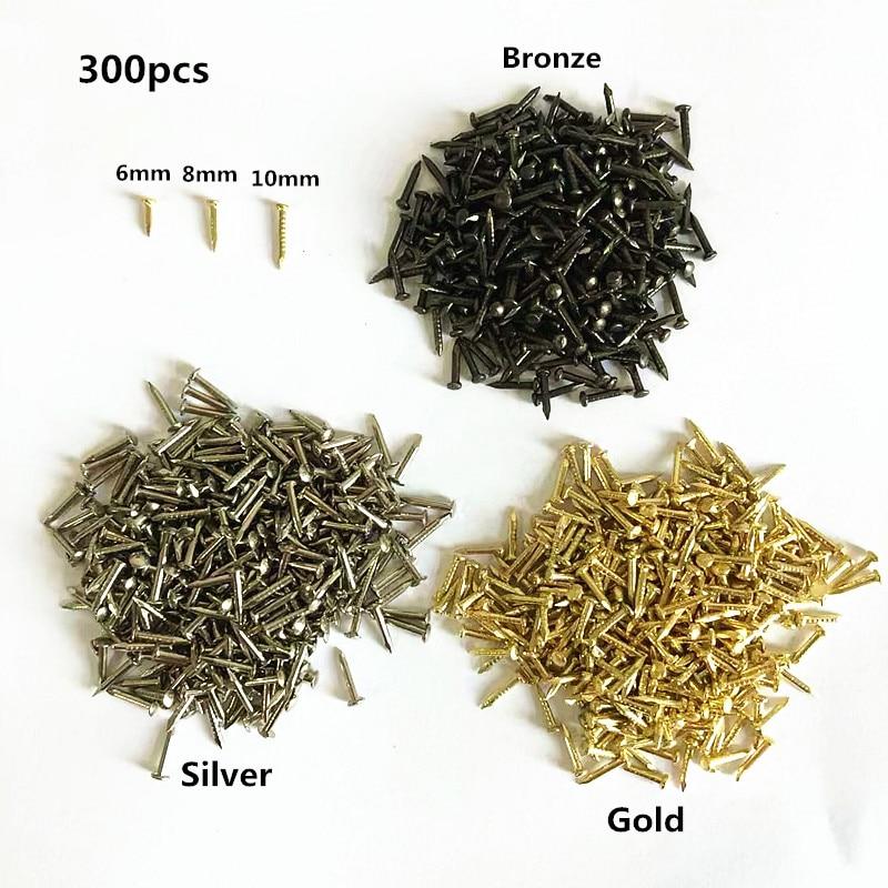300pcs 6mm 8mm 10mm Round Head Nail Furniture Fitting Decorative Screw Cusp Fasteners Hardware Gold