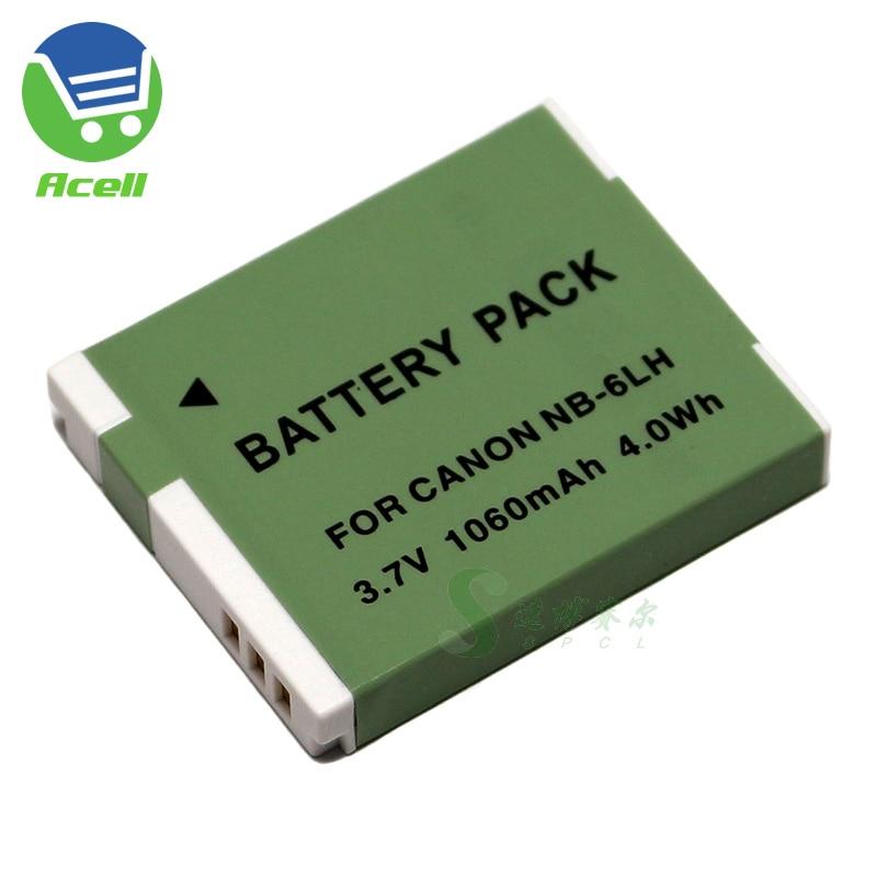 NB-6LH batería para Canon PowerShot D10 D20 D30 S90 S95 S120 SX260...