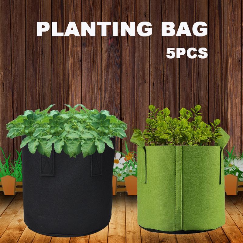 Saco de plantio de árvore verde durável berçário mudas saco de nutrição vaso de flores engrossado cor