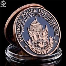 Défi de monnaie en Bronze du département de Police   Saint Michael Phoenix des états-unis, pièces de monnaie de collection des états-unis