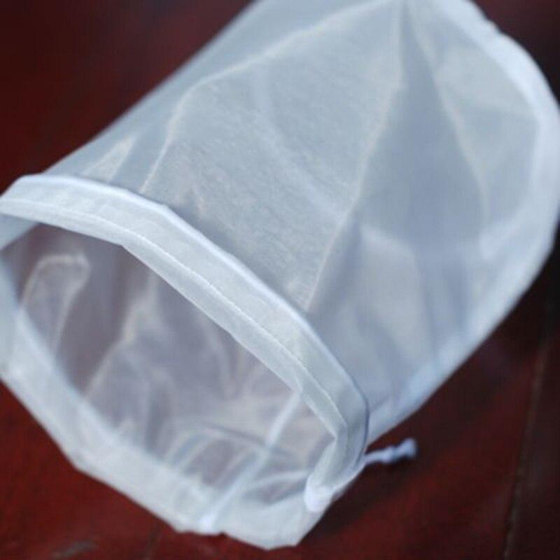 2шт 100/160/200 микрон нейлоновый Натяжной мешок тонкая сетка травы жидкий фильтр Homebrew сумки 20x30 см аксессуары для кухонного инструмента