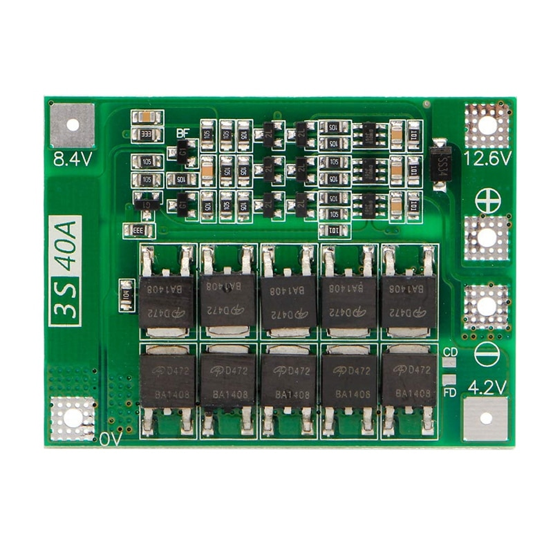 3S 40A 18650 литий-ионный аккумулятор зарядное устройство Защитная плата Pcb Bms для электродвигателя 11,1 V 12,6 V Lipo Cell Module