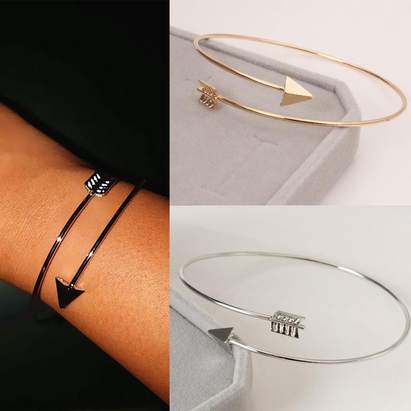 Женские регулируемые браслеты-манжеты в стиле ретро, простой браслет перо, золотой браслет перо, модные украшения в подарок, оптовая продажа