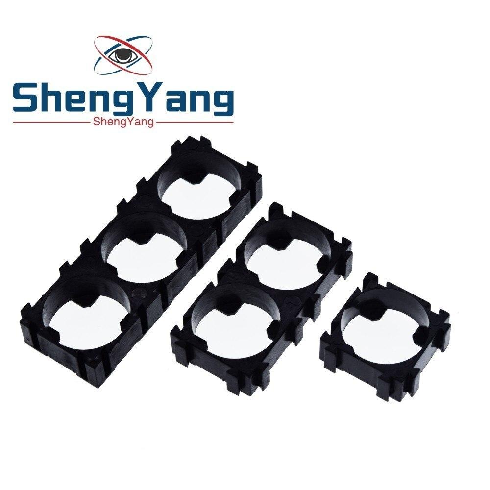 Plástico 1 2 3 celular 18650 bateria suporte cilíndrico baterias pacote dispositivo elétrico anti vibração caso caixa de armazenamento para diy