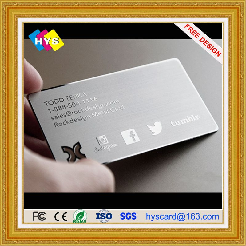 metal card and Gold stainless steel  card ,metal metal business card supply