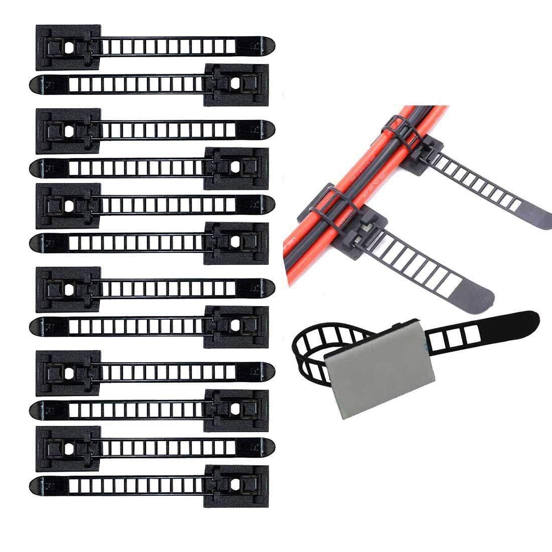 100 Uds ajustable Clips de Cable de auto-adhesivo de fijador de abrazadera de Cable Correa titular Jun 20 Dropshipping. Exclusivo. Cable Clips organizadores de Cable