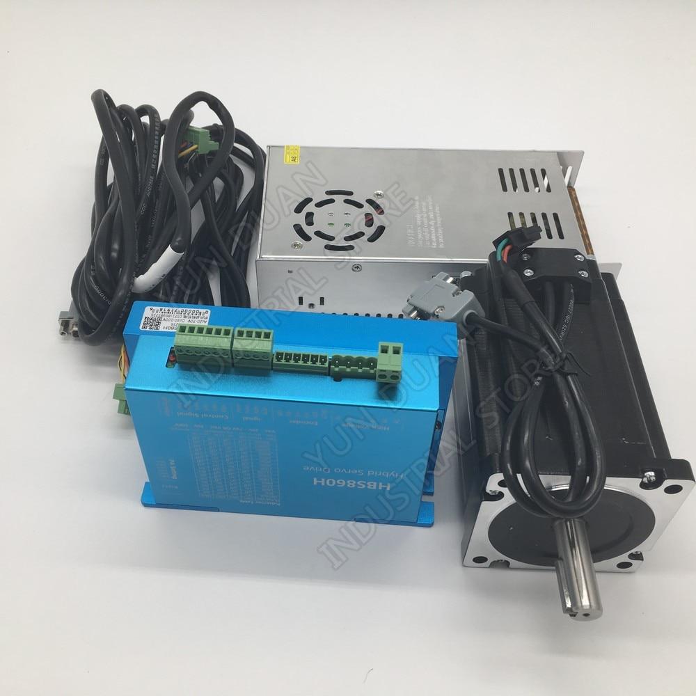 Nema34 12Nm 86MM AC DC DSP Closed Loop Stepper Motor Driver & 400W 60V DC Power Supply Hybird Encoder Easy Step Servo Kits