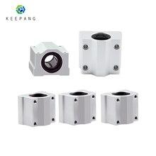 Kee Pang 4pcs SC8UU SCS8UU Lineare del Cuscinetto A Sfere 3D Stampante cuscinetto a sfere XYZ Tabella di Movimento Scorrevole del Cuscinetto di CNC Parte rodamiento lineare