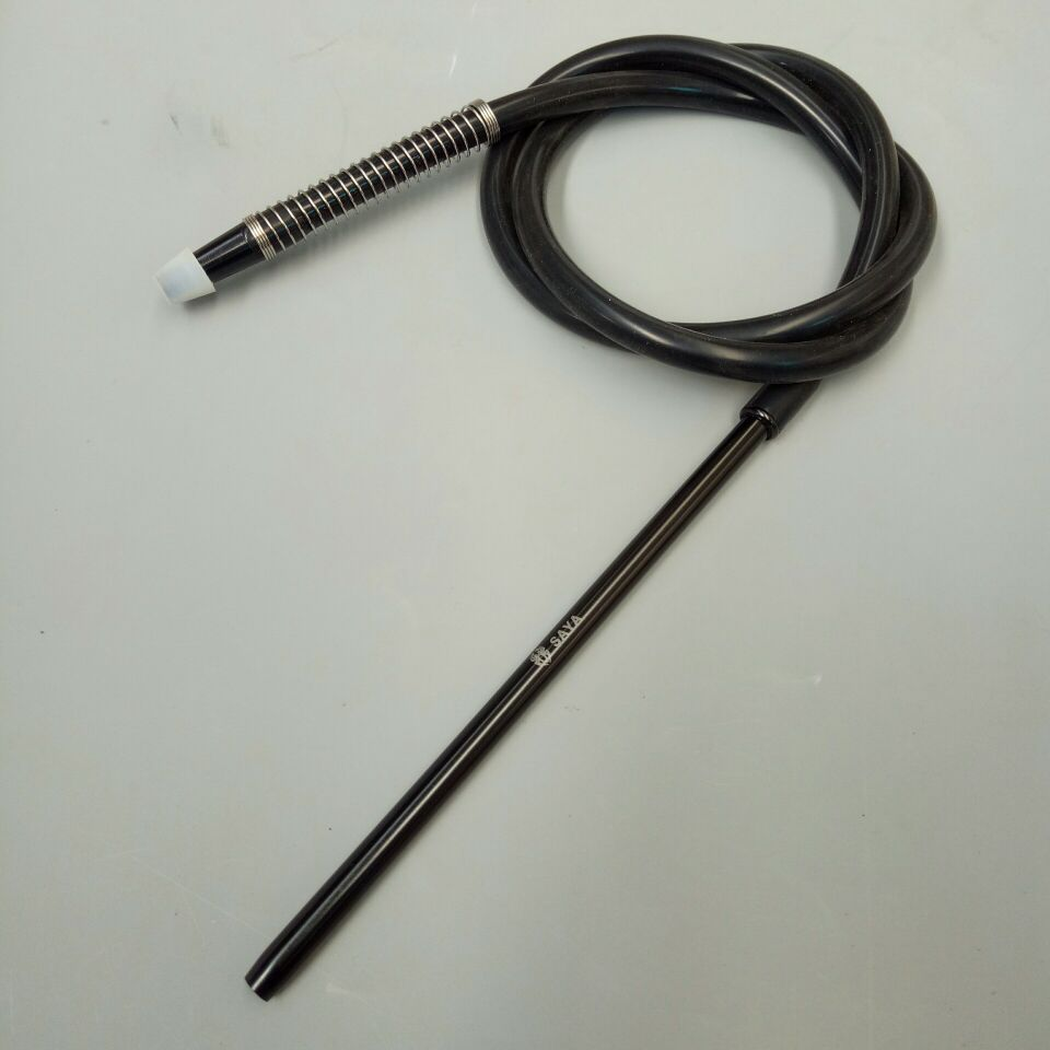 1.8m SAYA shisha hookah silicone hose with aluminum mouth piece