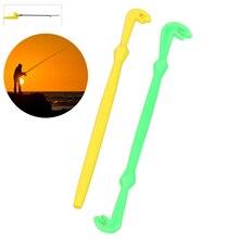 Facile crochet boucle Tyer dégorgeur outil cravate rapide noeud attacher outil pour pêche à la mouche crochet outils ligne Tier Kit jaune/vert plastique 2 pièces
