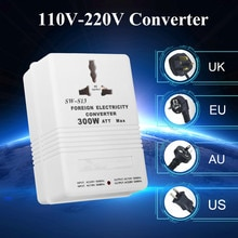 110V zu 220V Step Up/Unten Spannung Konverter 300W Watt Adapter Transformator Reise