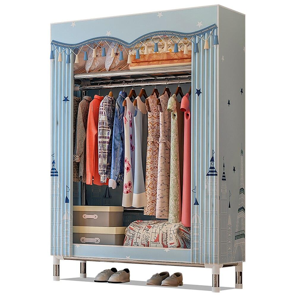 Guarda-roupa armário organizador de armazenamento de roupas rack de roupas armário tecido de lã guarda-roupa organizador de armazenamento de vestuário