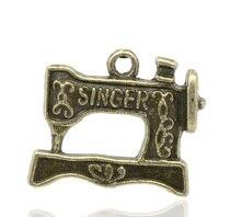 Encantadores colgantes de 30 tonos de bronce para máquina de coser 18x20mm (B13363)