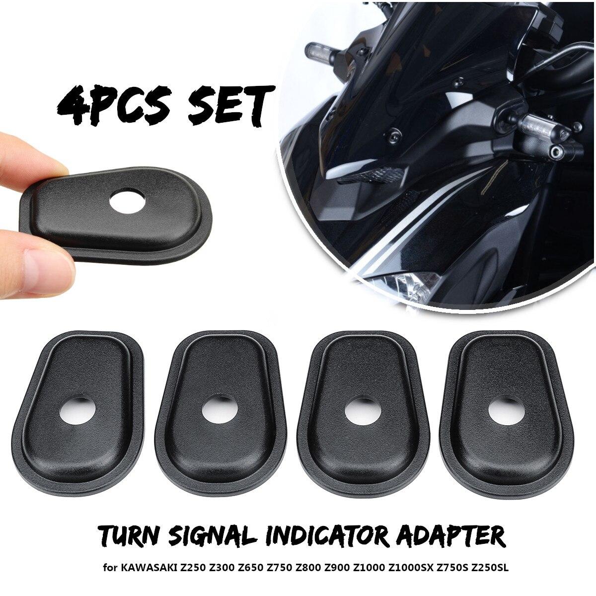 4 Uds Indicador de luz intermitente para motocicleta adaptador espaciadores para KAWASAKI Z250 Z300 Z750 Z800 Z1000 Z1000SX Z750S Z250SL