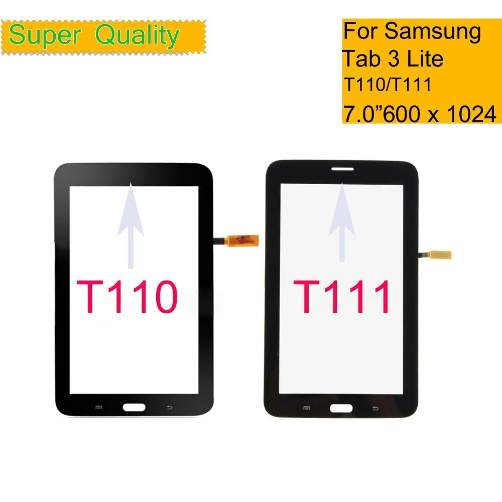 10 قطعة/الوحدة لسامسونج غالاكسي تبويب 3 لايت 7.0 SM-T111 T111 Wifi T110 SM-T110 اللمس شاشة التحويل الرقمي لوحة الاستشعار لمس