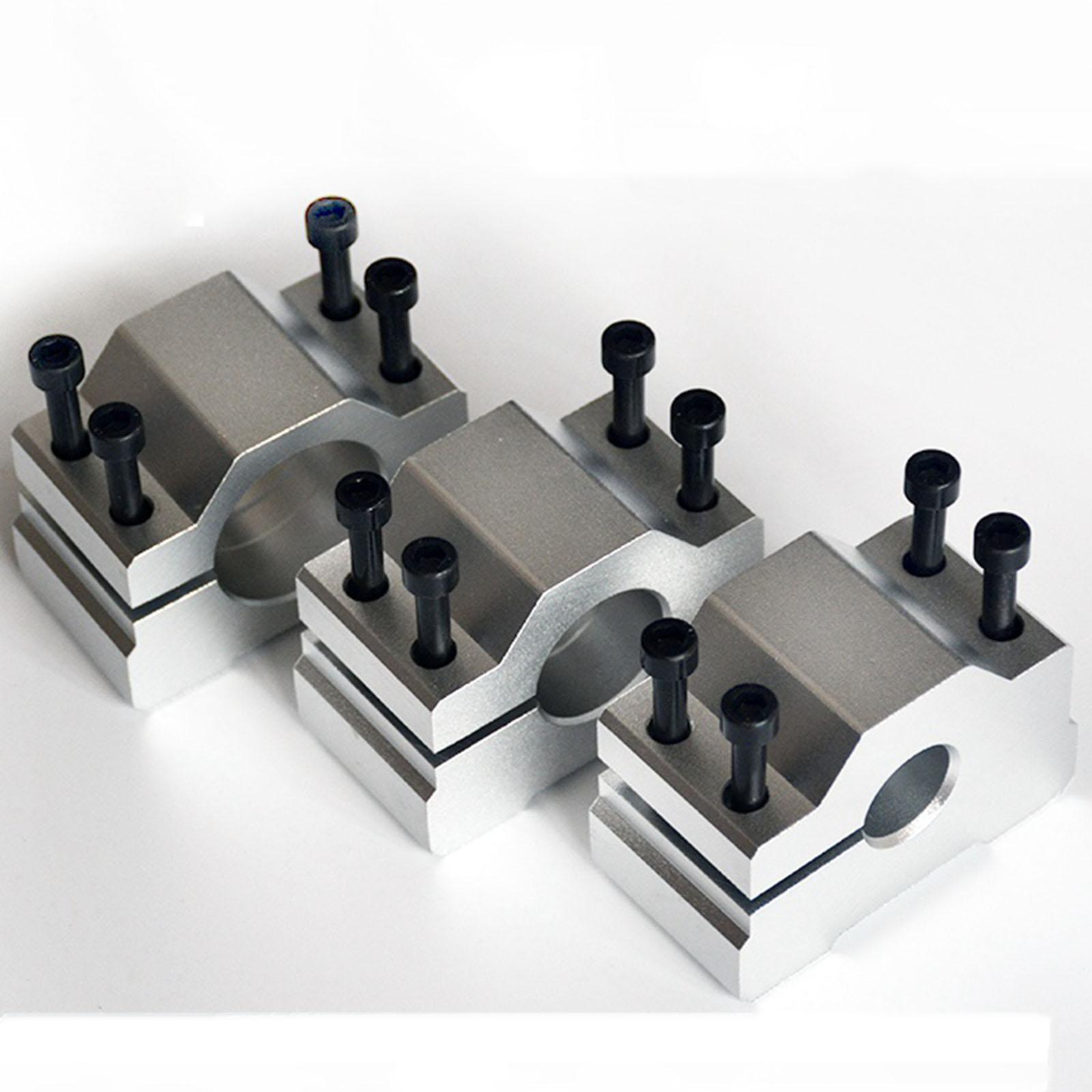 Cast Aluminum 34mm Inner Diameter M6 CNC Engraving Machine Spindle Motor Clamp Cas Fixture Holder Bracket D-Style