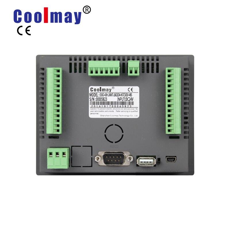 coolmay 43 polegada 12di 12do saida de rele rs485 rs232 industrial tudo em uma tela