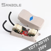 foot switch pedal power supply controller ydt1 20 101 pedal reverse with wire aluminum case double control three phase motor