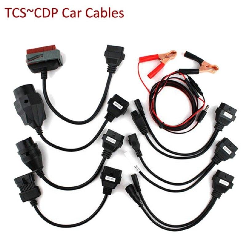 2020 juego completo de 8 Cables de coche para ds150e TCS C.DP herramienta de diagnóstico de interfaz automática para tcs c.dp VCI OBD2 8 Cable de envío gratis