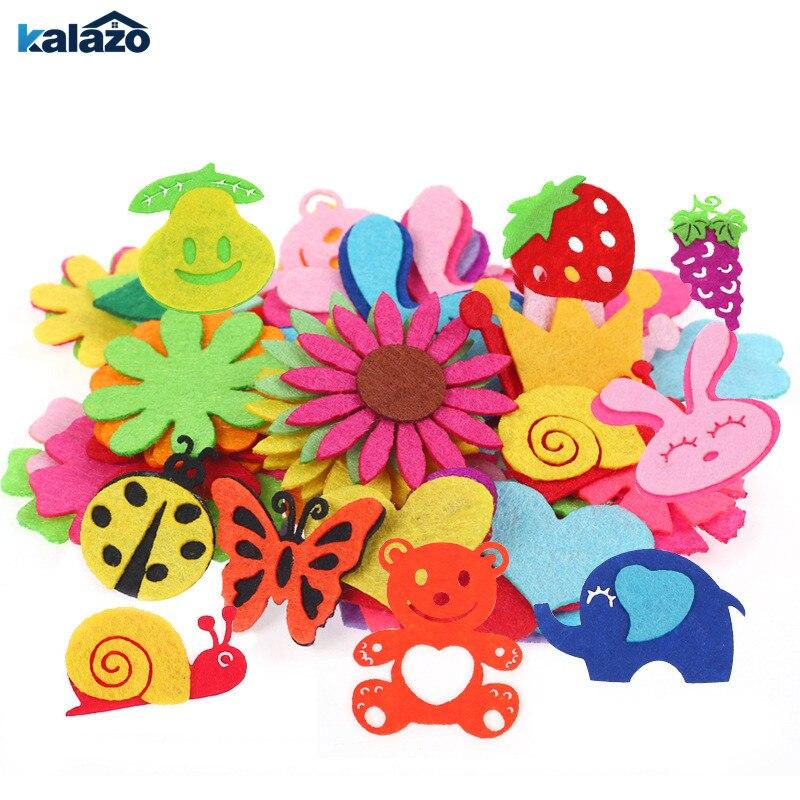 1 paquete de parches creativos no tejidos para manualidades, suministros de Material de costura, diseño de pétalo de Animal, Parche de dibujos animados para niños, decoración de fiesta