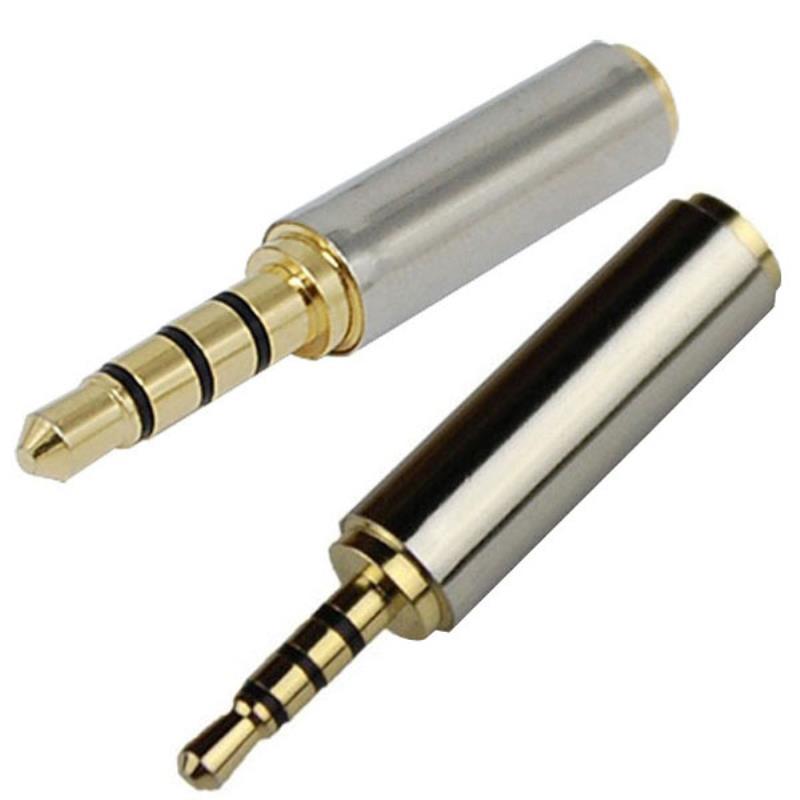 2,5mm macho a hembra de 3,5mm estéreo Jack de Audio auriculares macho Adaptador convertidor para micrófono