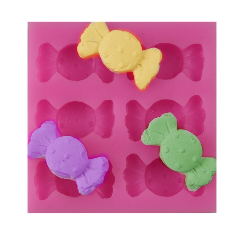 KKAOAOGO nuevo patrón 6 incluso dulces de búsqueda azúcar Gel de sílice modelo Chocolates DIY decoración de la torta MODELO DE HORNEAR