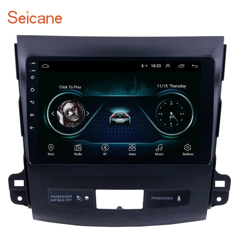 Seicane 9 pulgadas Android 8,1 reproductor de Radio de coche para MITSUBISHI Outlander 2006 2007 2008 -2014 2Din GPS Unidad Principal